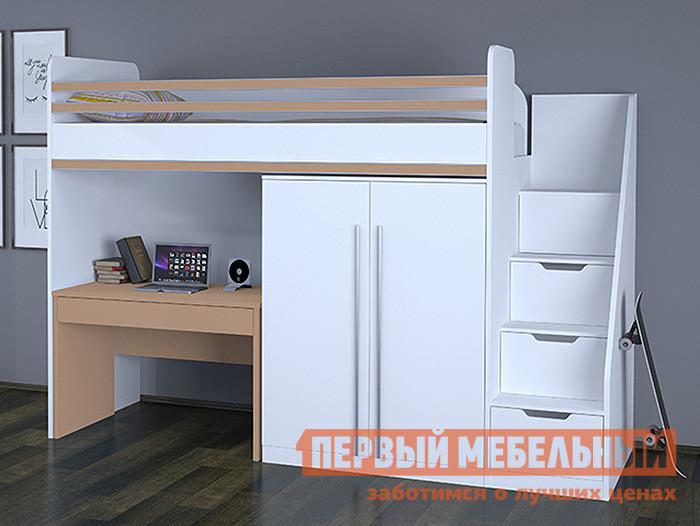 Кровать-чердак ВПК Polini kids City двухъярусная кровать для детей впк кровать 2 х ярусная polini kids simple 5000