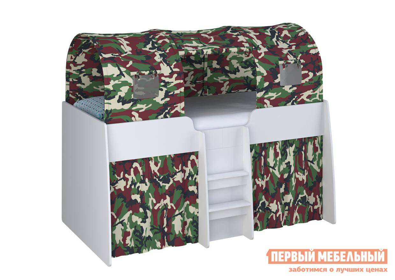 Кровать-чердак ВПК Кровать-чердак детская Polini kids Simple 4100 с выдвижными элементами двухъярусная кровать для детей впк кровать 2 х ярусная polini kids simple 5000