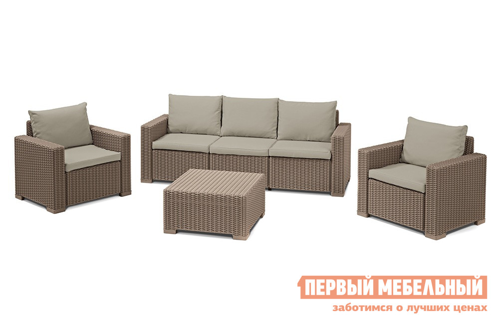 Комплект плетеной мебели Keter CALIFORNIA 3 SEATER SET 17198931 цена