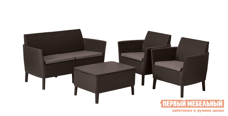 Комплект плетеной мебели Keter Комплект Salemo set цена
