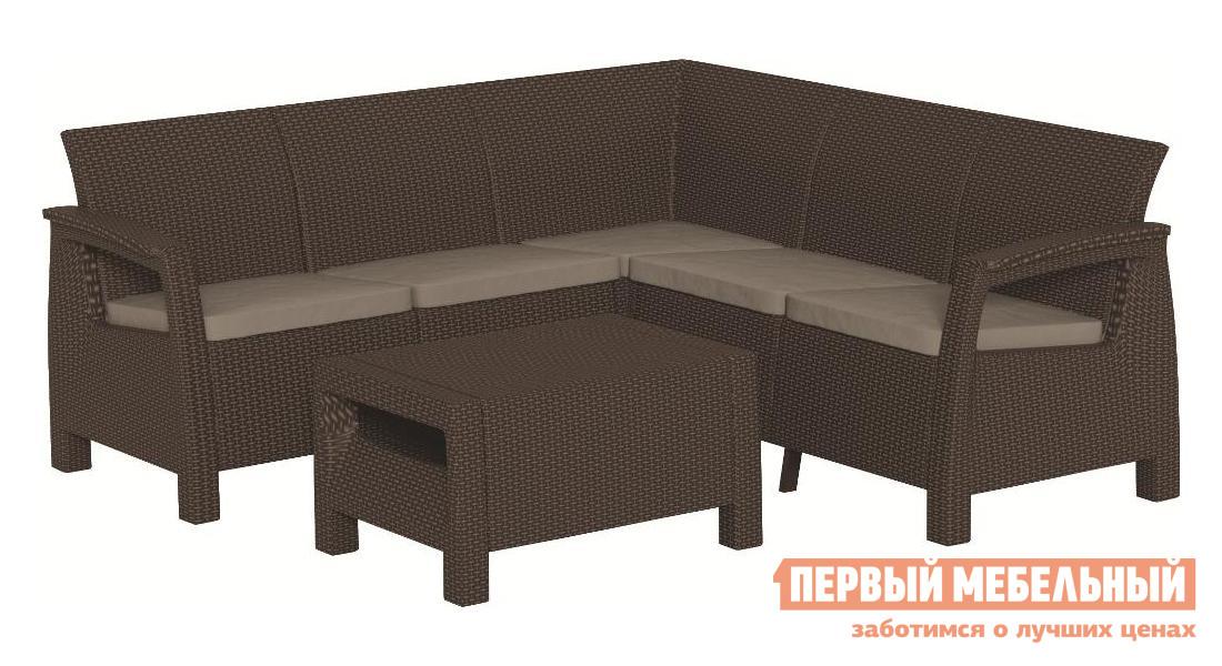 Комплект плетеной мебели Keter Corfu Relax set 17202123 набор мебели corfu relax set curver