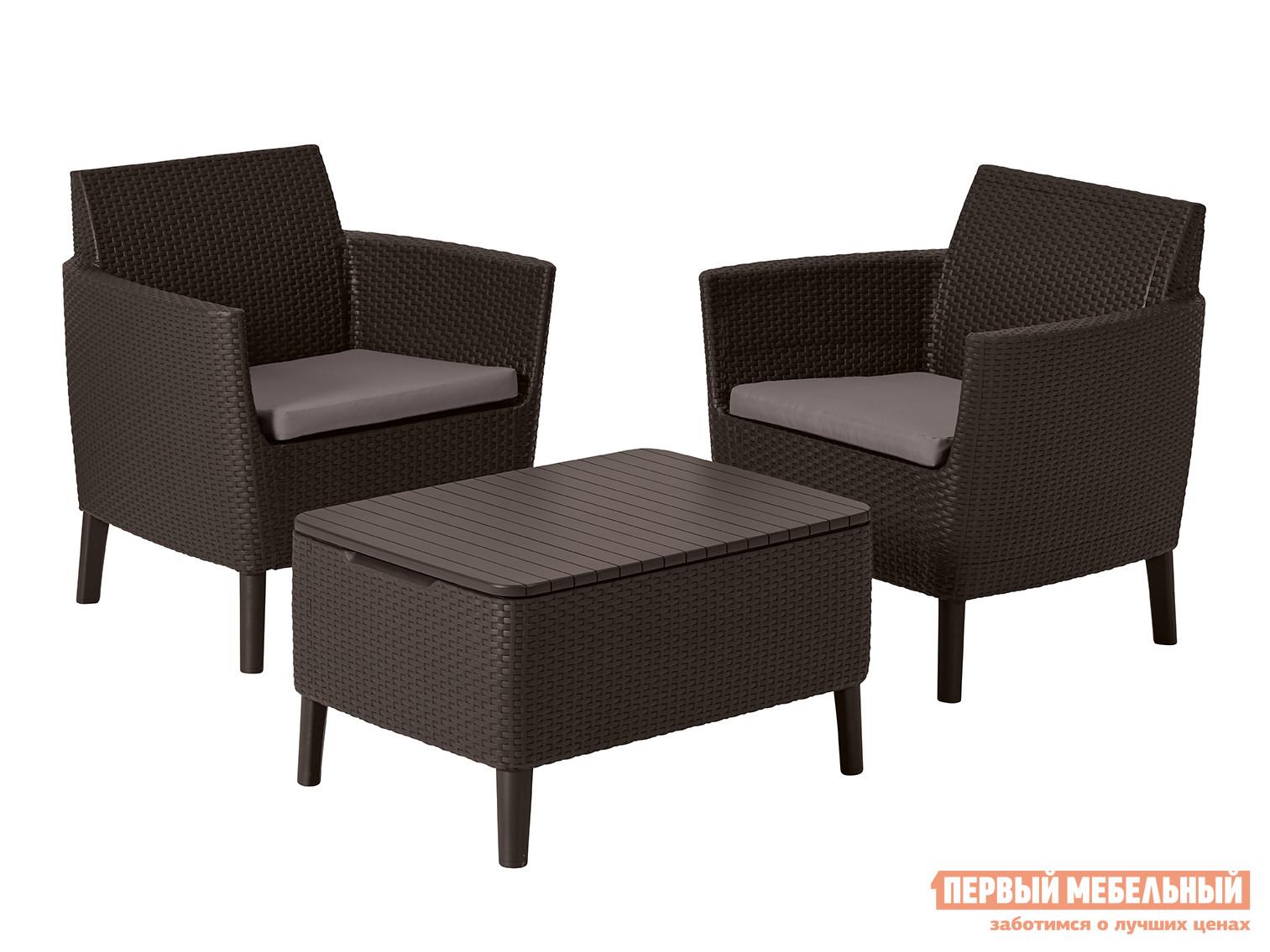 Комплект плетеной мебели Keter Комплект Salemo balcony set 17205935/ГРАФИТ комплект плетеной мебели афина мебель т503sg y290вg w1289