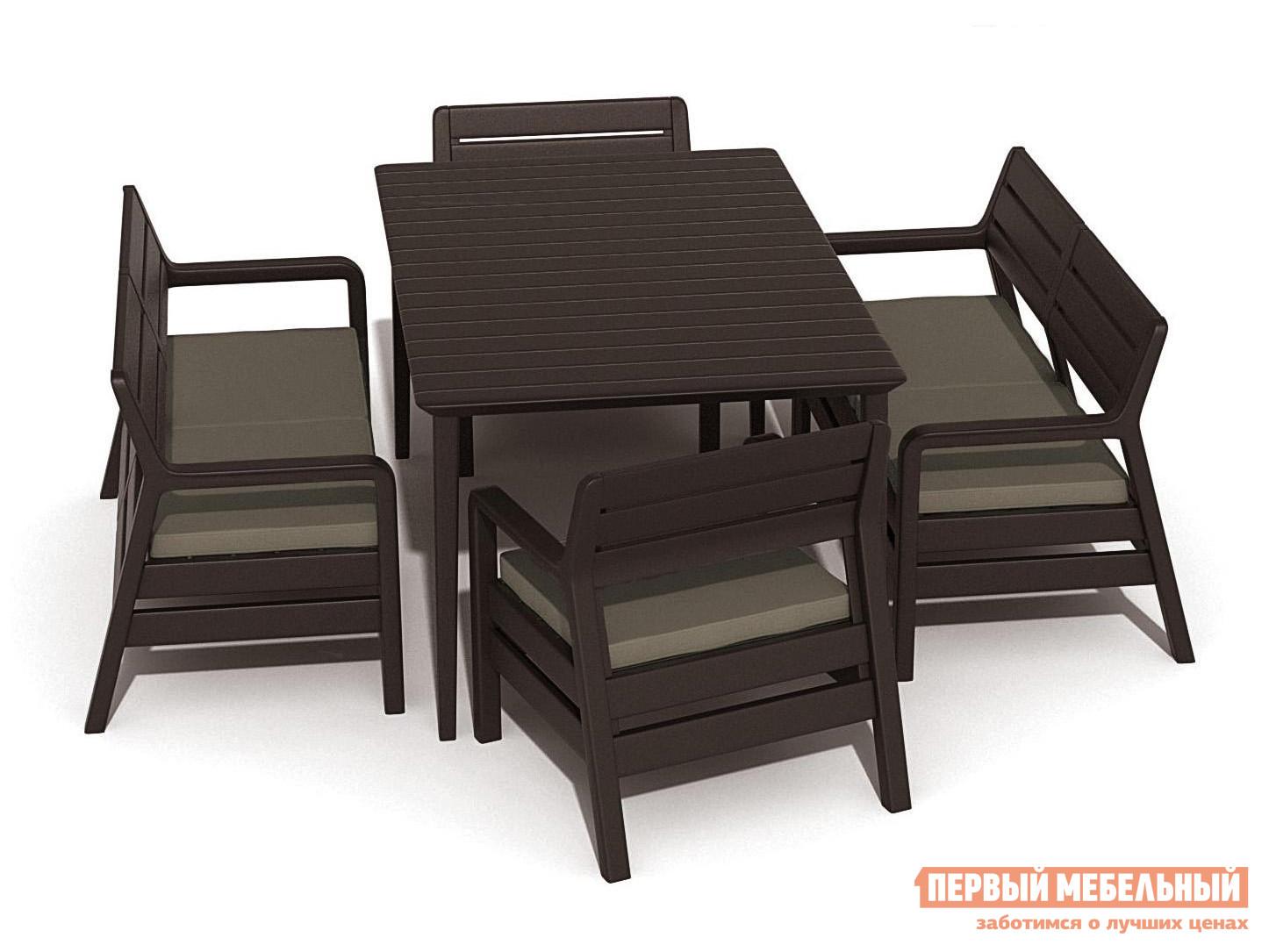 Набор пластиковой мебели Keter Delano set with Lima table 160 17205371/КОР
