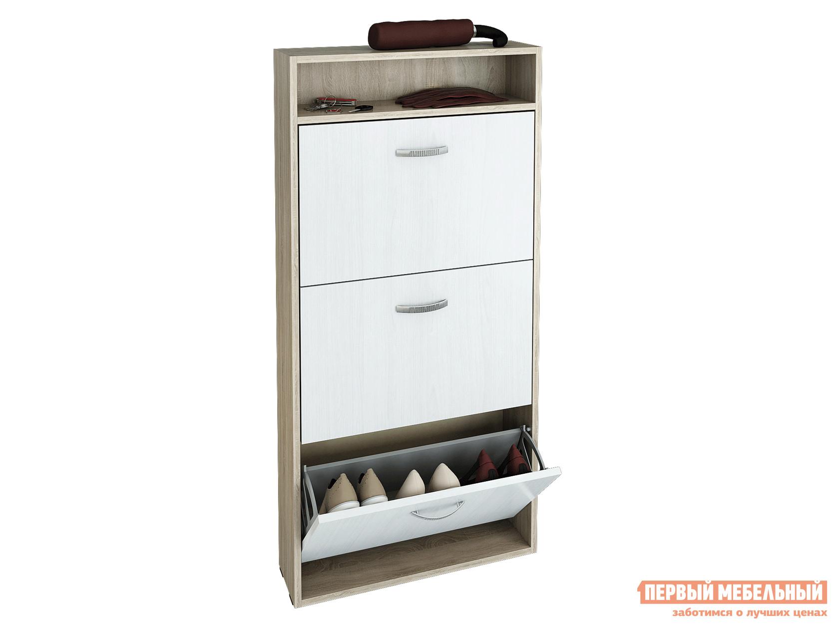Шкаф для обуви в прихожую узкий МФ Мастер Милан-26 узкая (КО-У-3+ФО-У-3+ЗСО-3)