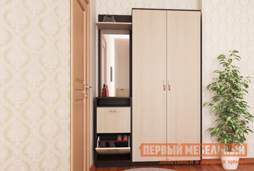 Прихожая в коридор МФ Мастер Ольга Венге-Дуб Молочный К1 спальный гарнитур трия саванна к1