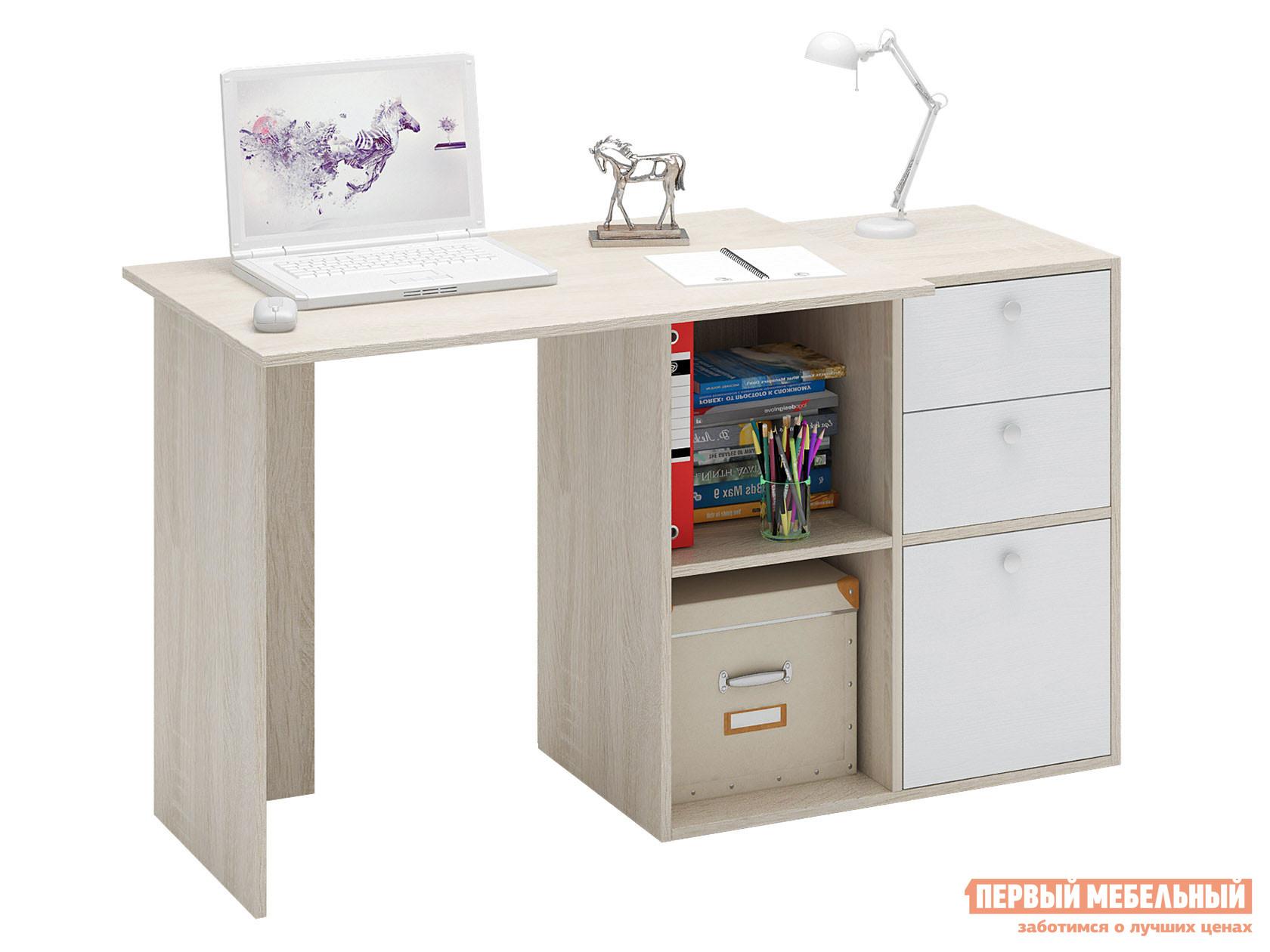 Письменный стол  Прайм-39 Дуб Сонома / Белый МФ Мастер 128964