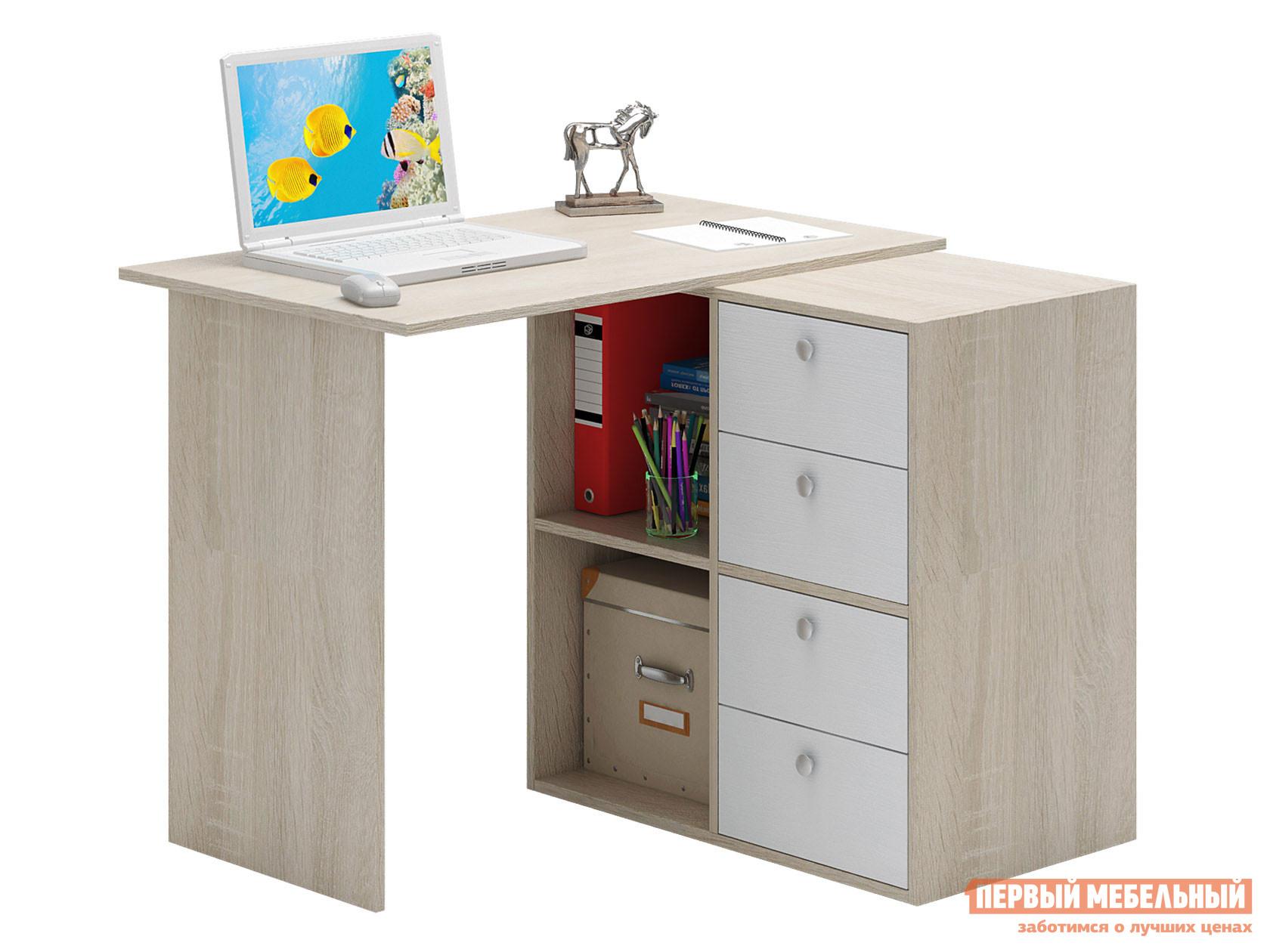 Письменный стол  Прайм-37 Дуб Сонома / Белый МФ Мастер 128950