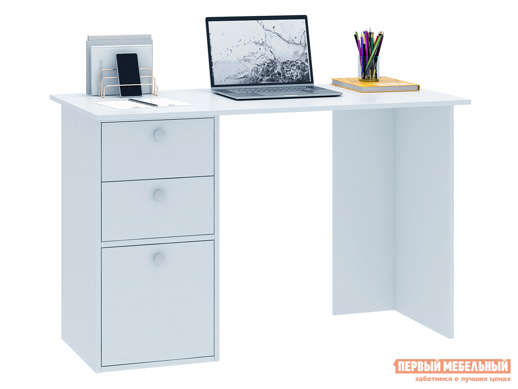 Письменный стол  Прайм-44 Белый МФ Мастер 128986