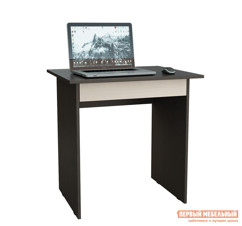 Письменный стол МФ Мастер Милан-2Я Венге / Дуб МолочныйПисьменные столы<br>Габаритные размеры ВхШхГ 750x764x600 мм. Компактный письменный стол — отличное решение для создания удобного рабочего места в детской или в небольшой комнате.  Стол также можно использовать как вспомогательный элемент в офисном помещении под оргтехнику. Под столешницей есть выдвижной ящик для канцелярских принадлежностей и прочих мелочей.  Он выдвигается за низ фасада. Широкий выбор цветового исполнения модели, позволит подобрать стол под любой интерьер. Изделие производится из ЛДСП, края обработаны кромкой ПВХ. Обратите внимание! Задняя стенка тумбы выполнена из ДВП (не в цвет стола).  Такой стол рекомендуется ставить к стене.<br><br>Цвет: Венге / Дуб Молочный<br>Цвет: Темное-cветлое дерево<br>Высота мм: 750<br>Ширина мм: 764<br>Глубина мм: 600<br>Кол-во упаковок: 1<br>Форма поставки: В разобранном виде<br>Срок гарантии: 2 года<br>Тип: Прямые<br>Материал: Деревянные, из ЛДСП<br>Размер: Маленькие<br>Особенности: С ящиками, Без надстройки<br>Стиль: Классический