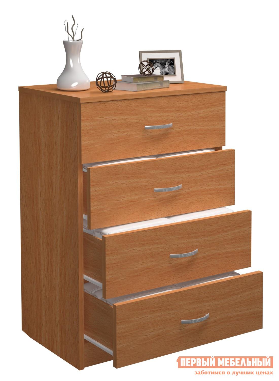 Комод МФ Мастер Милан-18 (ККМ-600х4+ЯКМ-600х4) БукКомоды<br>Габаритные размеры ВхШхГ 898x600x430 мм. Вместительный небольшой комод — отличное решение для хранения разного рода вещей в гостиной, детской или спальне.  Лаконичный стиль исполнения, а также цветовое разнообразие позволит дополнить таким комодом любой интерьер. Модель имеет пять выдвижных ящиков, которые без труда позволят навести порядок в одежде, игрушках, спальных принадлежностях и прочих предметах. Изделие производится из ЛДСП, края обработаны кантом ПВХ. Задняя стенка — ДВП.<br><br>Цвет: Светлое дерево<br>Высота мм: 898<br>Ширина мм: 600<br>Глубина мм: 430<br>Кол-во упаковок: 1<br>Форма поставки: В разобранном виде<br>Срок гарантии: 2 года<br>Тип: Прямые<br>Тип: Для белья<br>Тип: Для одежды<br>Назначение: Для спальни<br>Назначение: В прихожую<br>Назначение: Для гостиной<br>Материал: ЛДСП<br>Размер: Узкие<br>Глубина: Неглубокие<br>С ящиками: Да<br>Количество ящиков: 4 ящика<br>Стиль: Современный<br>Стиль: Модерн
