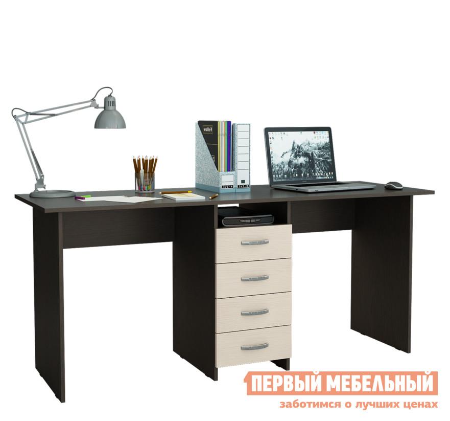 Компьютерный стол МФ Мастер Тандем-2 Венге / Дуб Молочный