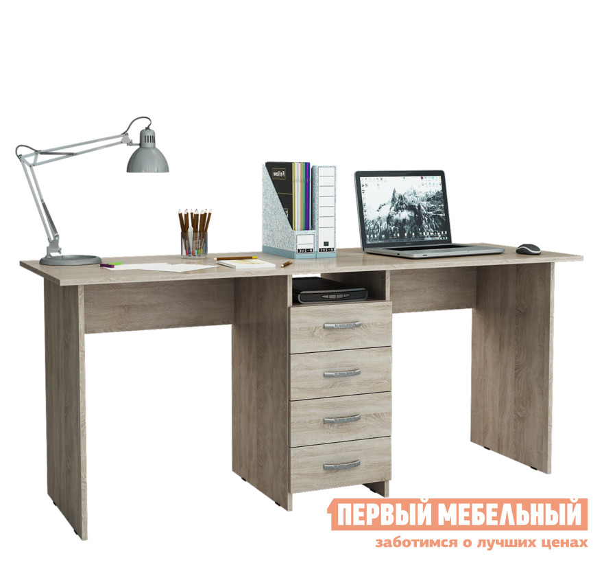 Компьютерный стол МФ Мастер Стол для двоих Тандем-2 (0120)