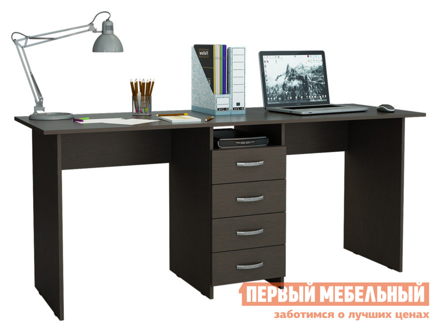 Компьютерный стол МФ Мастер Тандем-2 колонна мф мастер колонна к столам милан и тандем