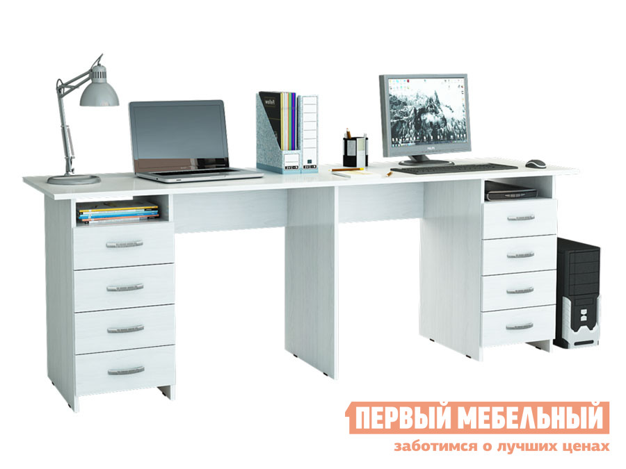 Компьютерный стол  Тандем-3 Белый МФ Мастер 18139