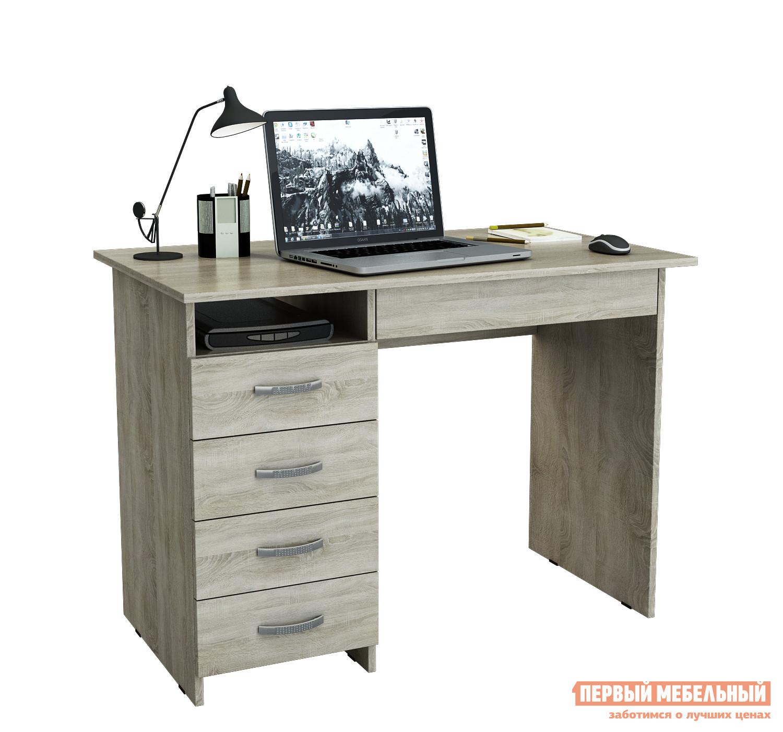 Компьютерный стол МФ Мастер Милан-1 Дуб Сонома, Правый