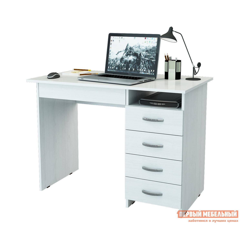 Компьютерный стол МФ Мастер Милан-1 Белый, Правый