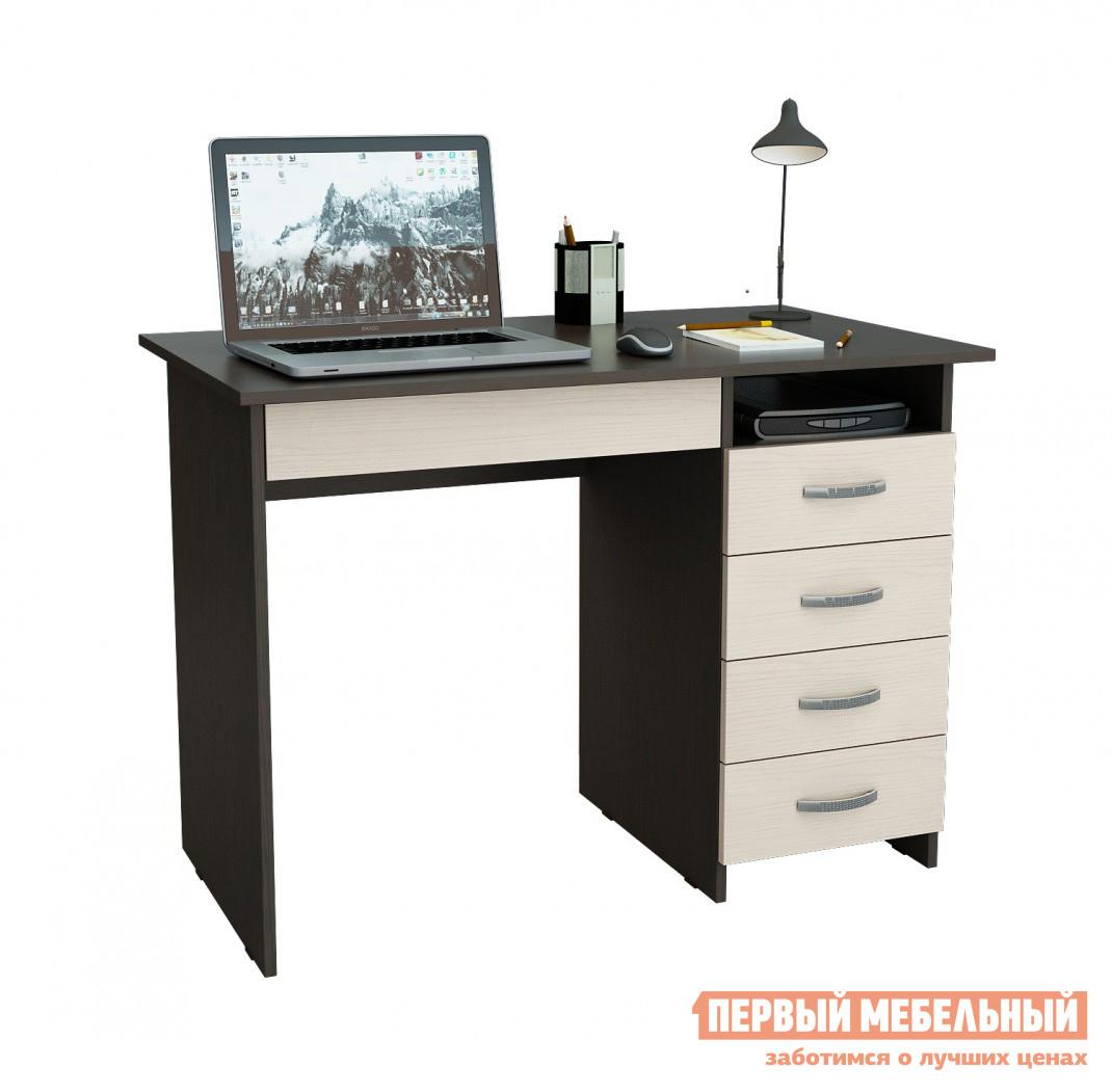 Купить со скидкой Компьютерный стол МФ Мастер Милан-1 Венге / Дуб Молочный, Левый