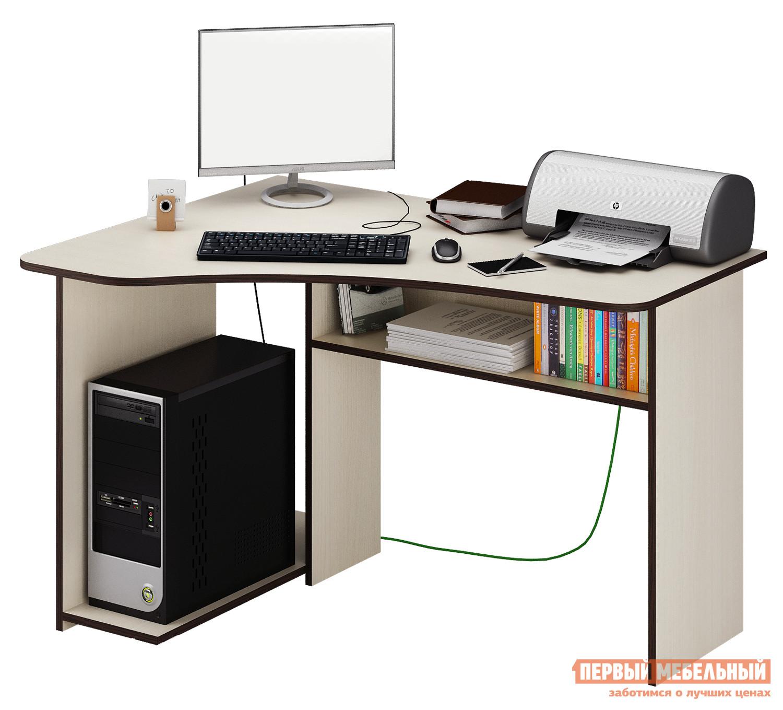 Компьютерный стол МФ Мастер Триан-1 Дуб молочный, Правый