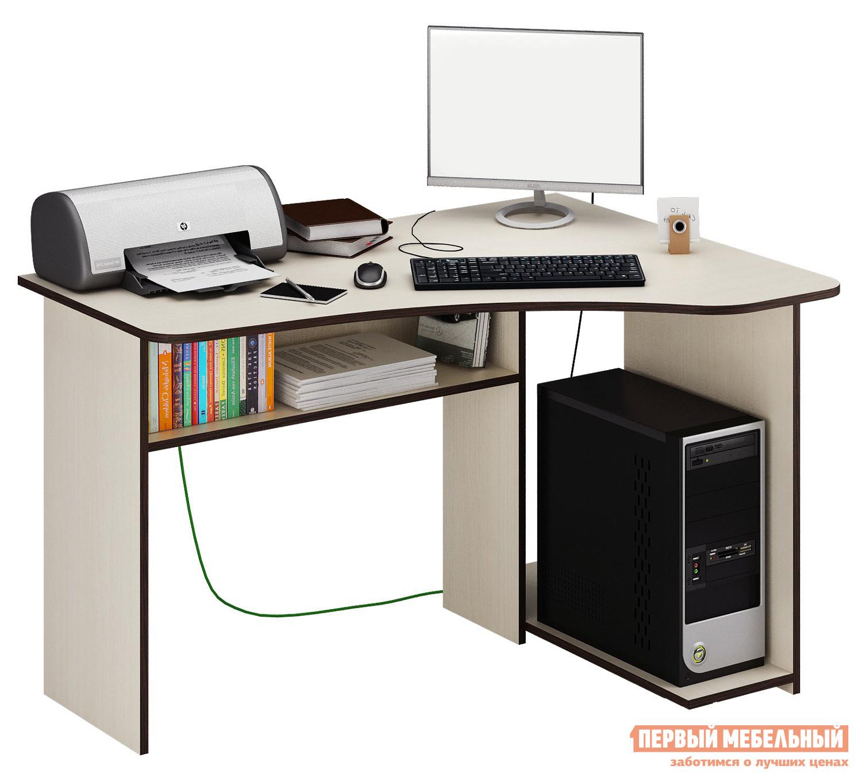 Стол для компьютера МФ Мастер Триан-1 Дуб молочный, Правый от Купистол