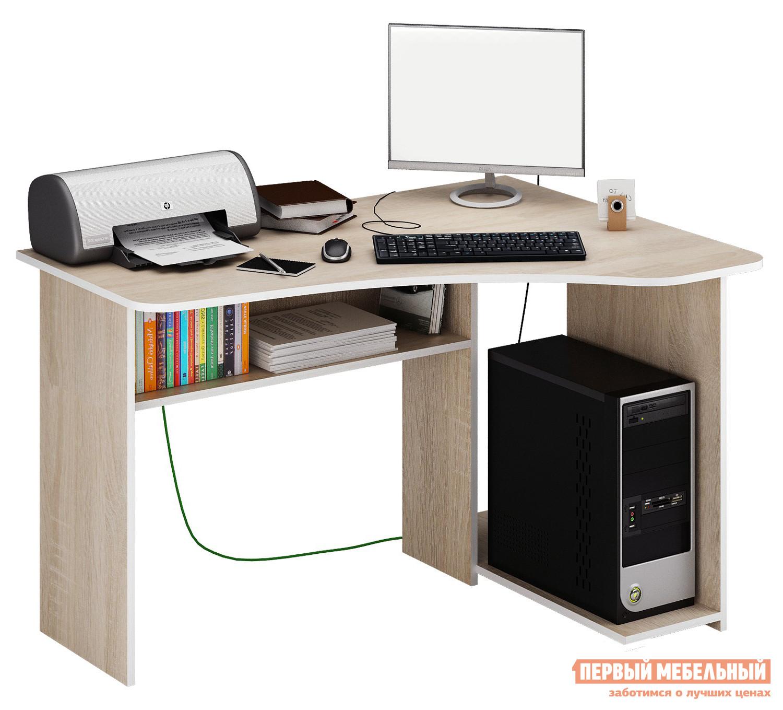 Стол для компьютера МФ Мастер Триан-1 Дуб Сонома, Правый от Купистол