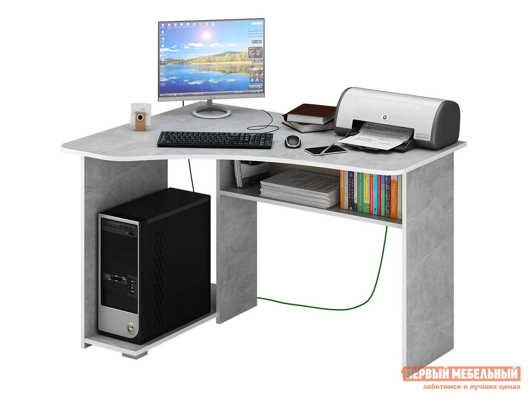 Компьютерный стол  Триан-1 Бетон, Левый МФ Мастер 128708
