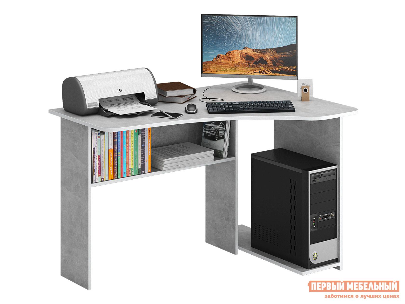 Компьютерный стол  Триан-1 Бетон, Правый МФ Мастер 128709