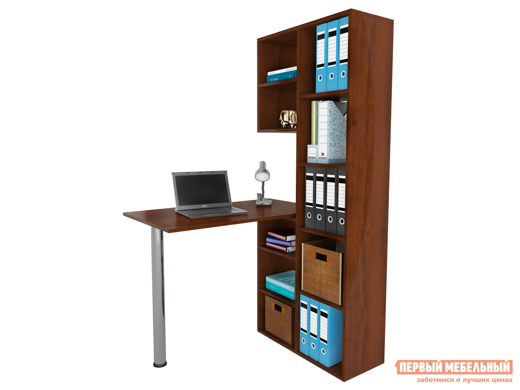 Компьютерный стол  Рикс-2 + Рикс-6 Орех Итальянский