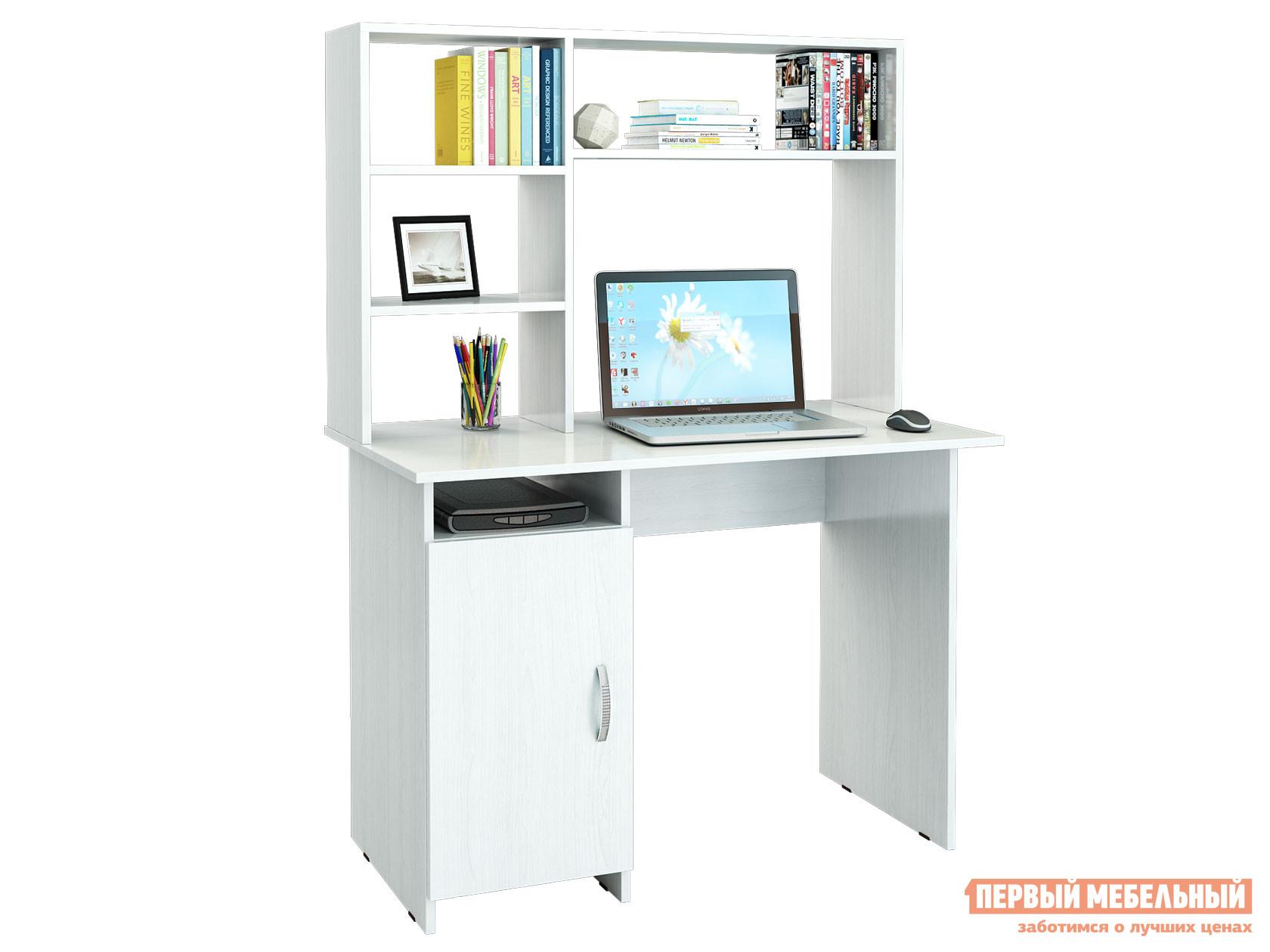 Компьютерный стол МФ Мастер Милан-8 с надстройкой