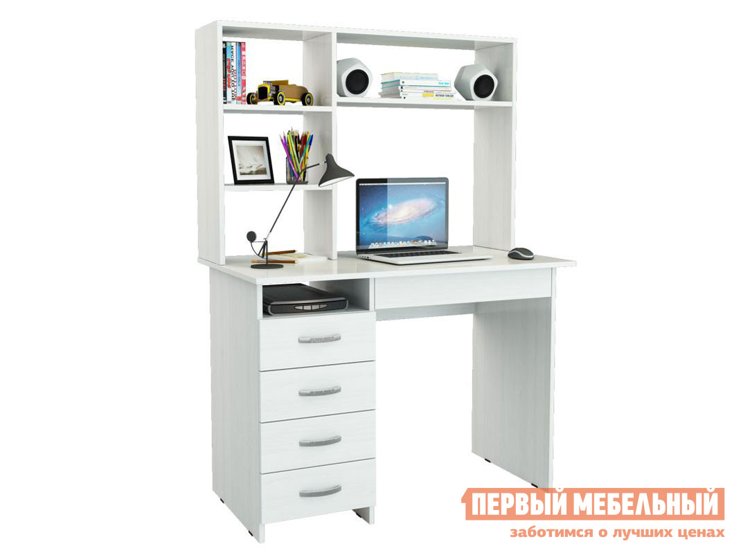 Компьютерный стол МФ Мастер Милан-1 с надстройкой