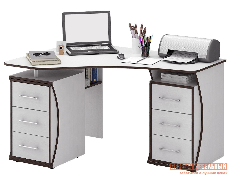 Компьютерный стол МФ Мастер Триан-41 Белый, Правый