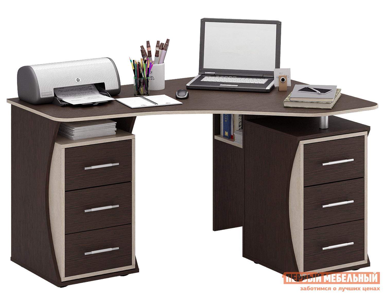 Угловой компьютерный стол с полками и ящиками триан-41 мф ма.