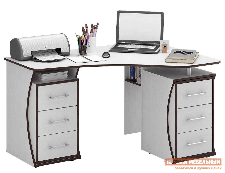 Угловой компьютерный стол с полками и ящиками МФ Мастер Триан-41 стол с ящиками витра 19 71
