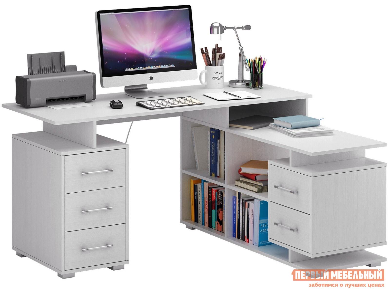 Компьютерный стол  Барди-3 угловой Белый