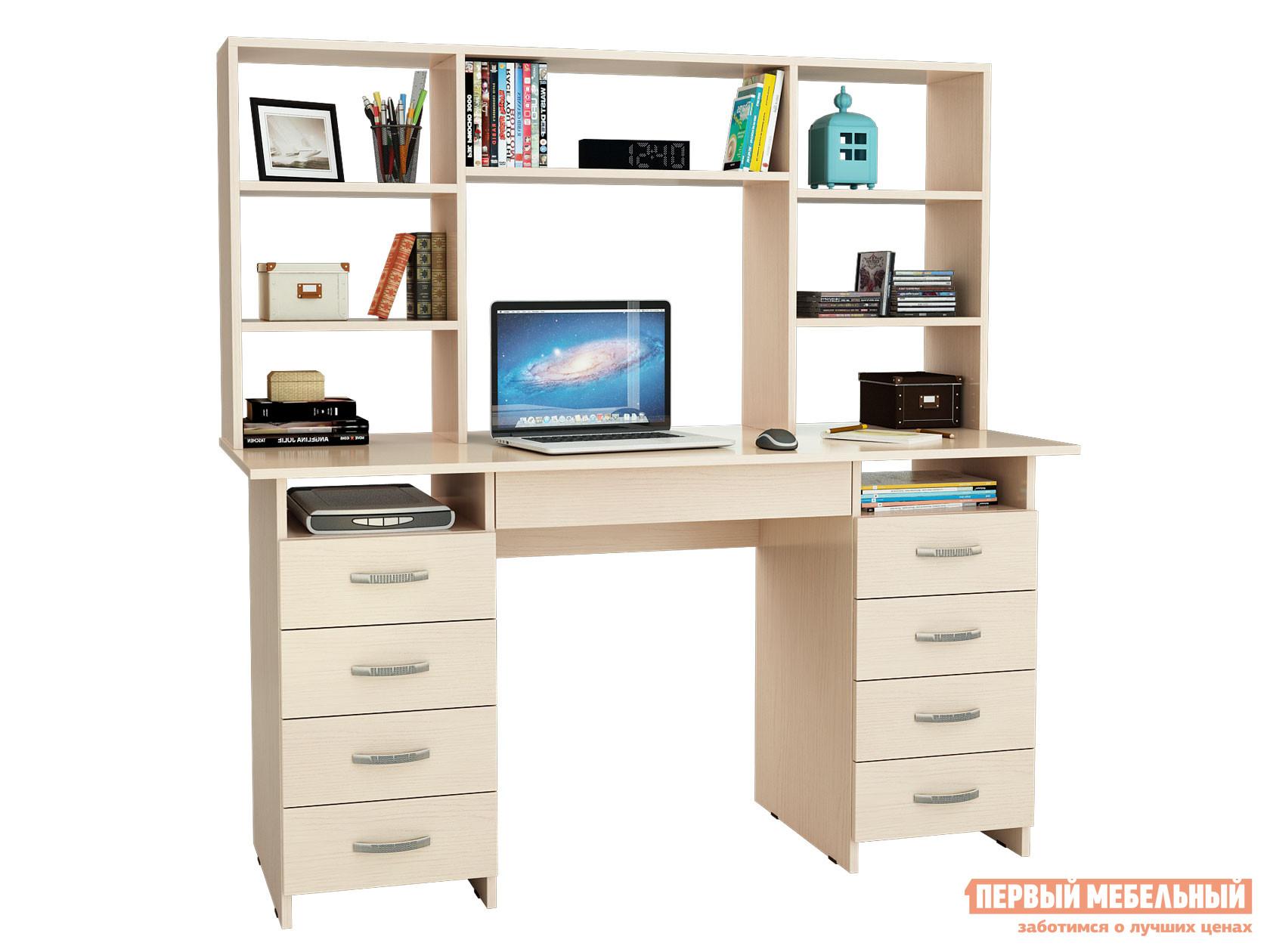 Компьютерный стол МФ Мастер Стол письменный Милан-10Я (0120) + Надставка для столов «Милан-6,7,10»