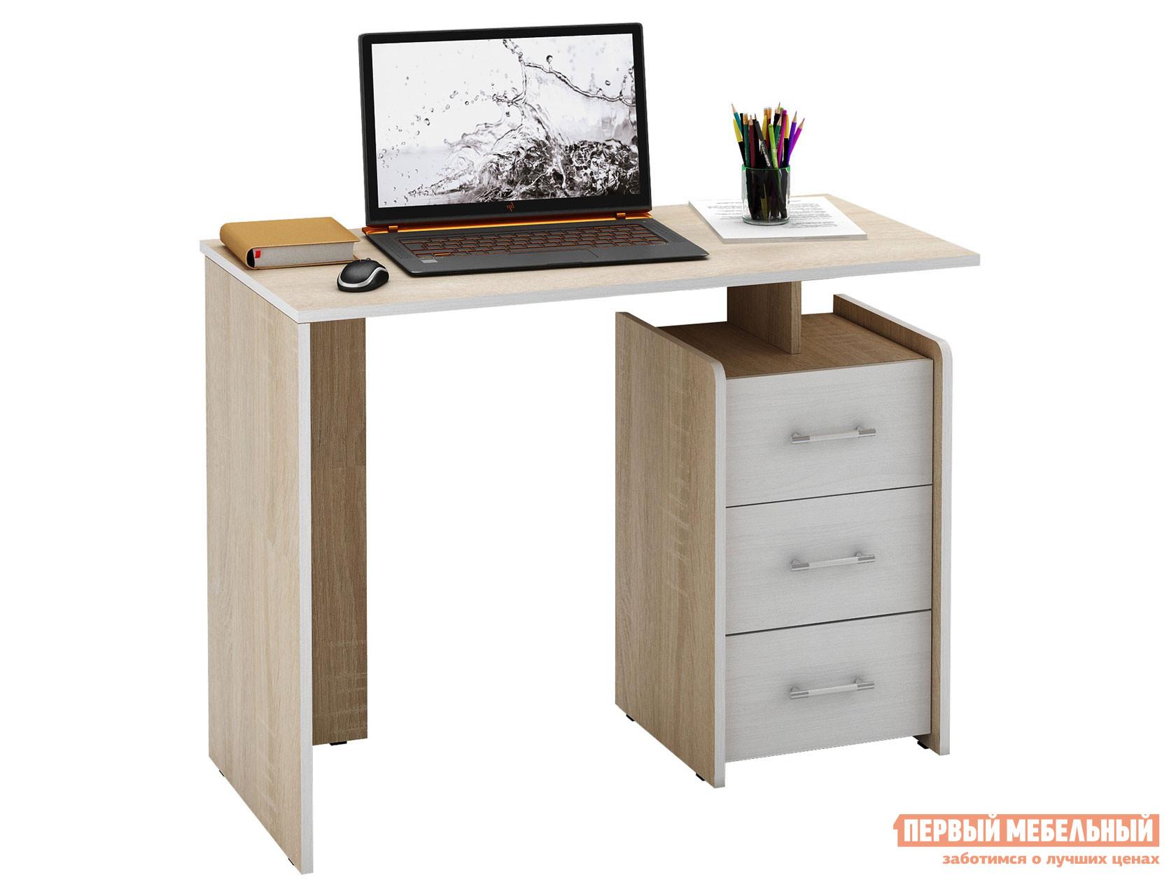 Письменный стол  Слим Дуб Сонома / Белый, 1030 мм МФ Мастер 61899