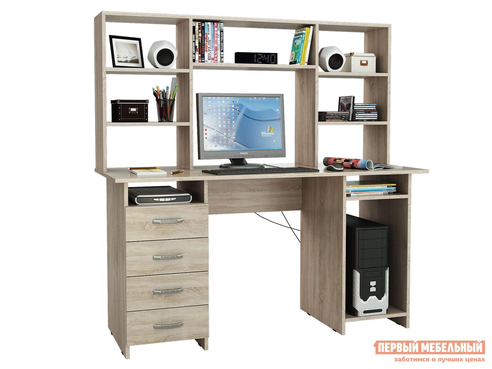 Компьютерный стол МФ Мастер Стол письменный Милан-6 (0120) + Надставка для столов «Милан-6,7,10»