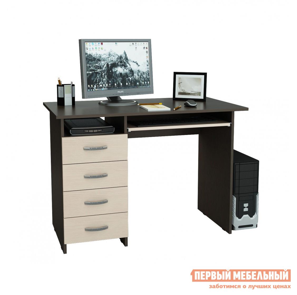 Компьютерный стол МФ Мастер Милан-3 Венге / Дуб Молочный