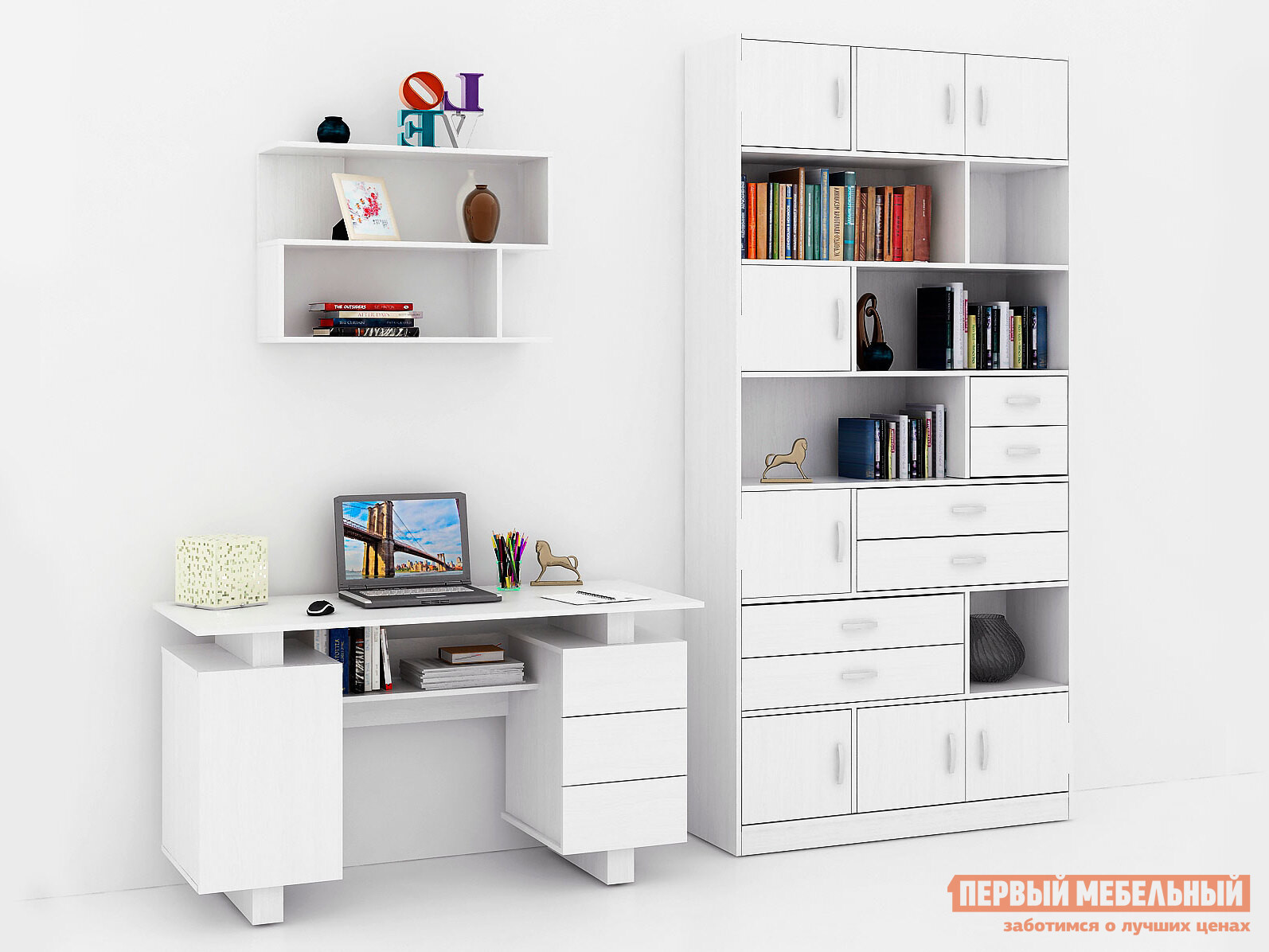 Компьютерный стол МФ Мастер Ренцо-3 + Либерти-31 Файн-13