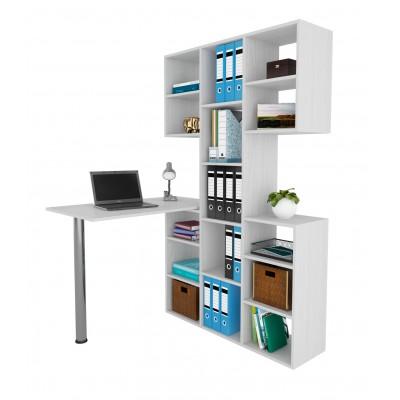 Компьютерный стол МФ Мастер Рикс-3 + Рикс-6 Белый