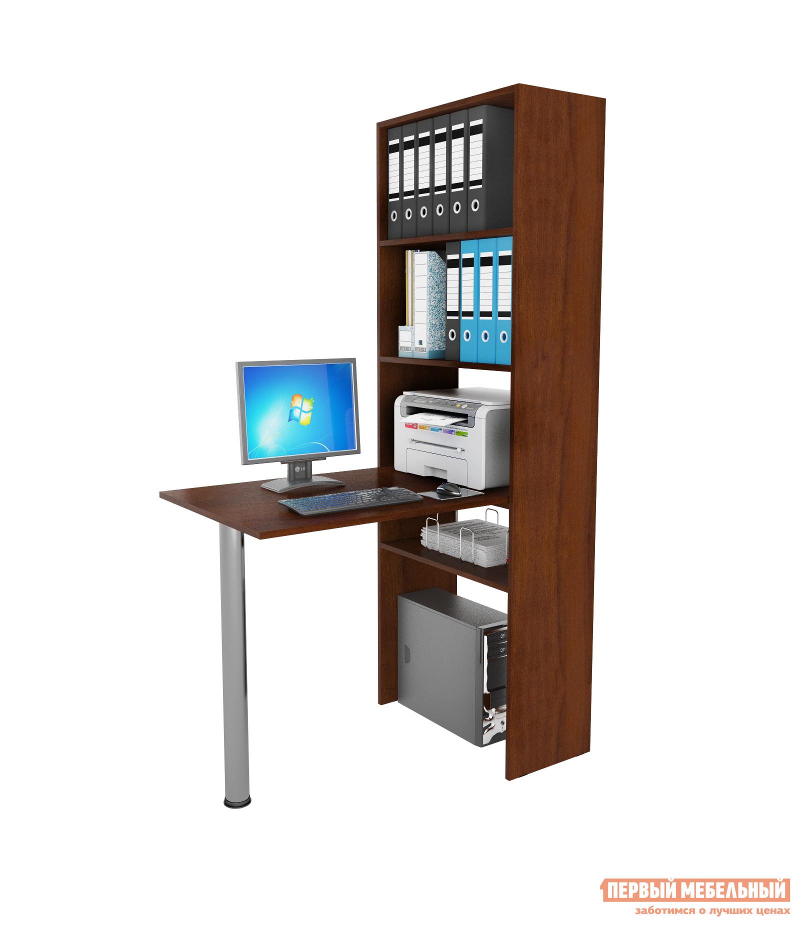 Угловой компьютерный стол с надстройкой и полками мф мастер .