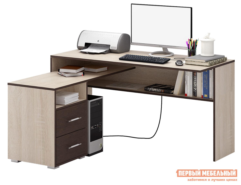 Письменный стол МФ Мастер Краст-1 Дуб Сонома / Венге, Левый