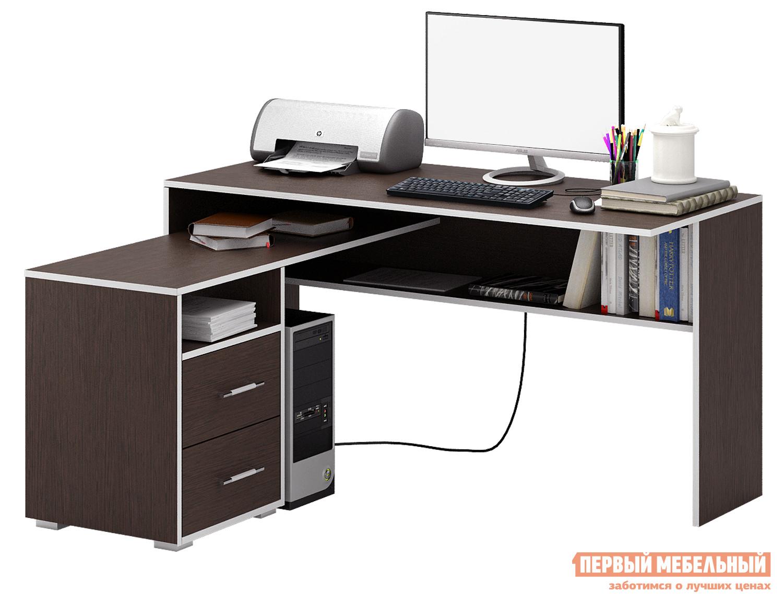 Письменный стол МФ Мастер Краст-1 Венге, ПравыйПисьменные столы для офиса<br>Габаритные размеры ВхШхГ 750 / 770x1400x1152 / 1180 мм. Большой и удобный стол, обладающий отличным функционалом, поможет грамотно организовать рабочее место, сэкономив пространство в помещении. Конструкцией предусмотрена удобная тумба с ящиками, а также вместительные открытые ниши для бумаг. Материал изготовления — ЛДСП толщиной 16 мм.  В ящиках используются роликовые направляющие. Обратите внимание, перед заказом необходимо выбрать ориентацию стола. В разных ориентациях некоторые габаритные размеры различаются.  Подробнее с размерами вы можете ознакомиться на схемах.<br><br>Цвет: Венге<br>Цвет: Венге<br>Высота мм: 750 / 770<br>Ширина мм: 1400<br>Глубина мм: 1152 / 1180<br>Кол-во упаковок: 3<br>Форма поставки: В разобранном виде<br>Срок гарантии: 2 года<br>Тип: Угловые<br>Материал: Деревянные, из ЛДСП<br>Размер: Большие, Ширина 140 см<br>Особенности: С ящиками, Без надстройки, С тумбой, С полками<br>Стиль: Современный, Модерн