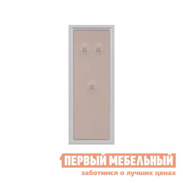 Настенная вешалка Кураж ПР.092.101 Дуб альбино / Кожа capitone светлый