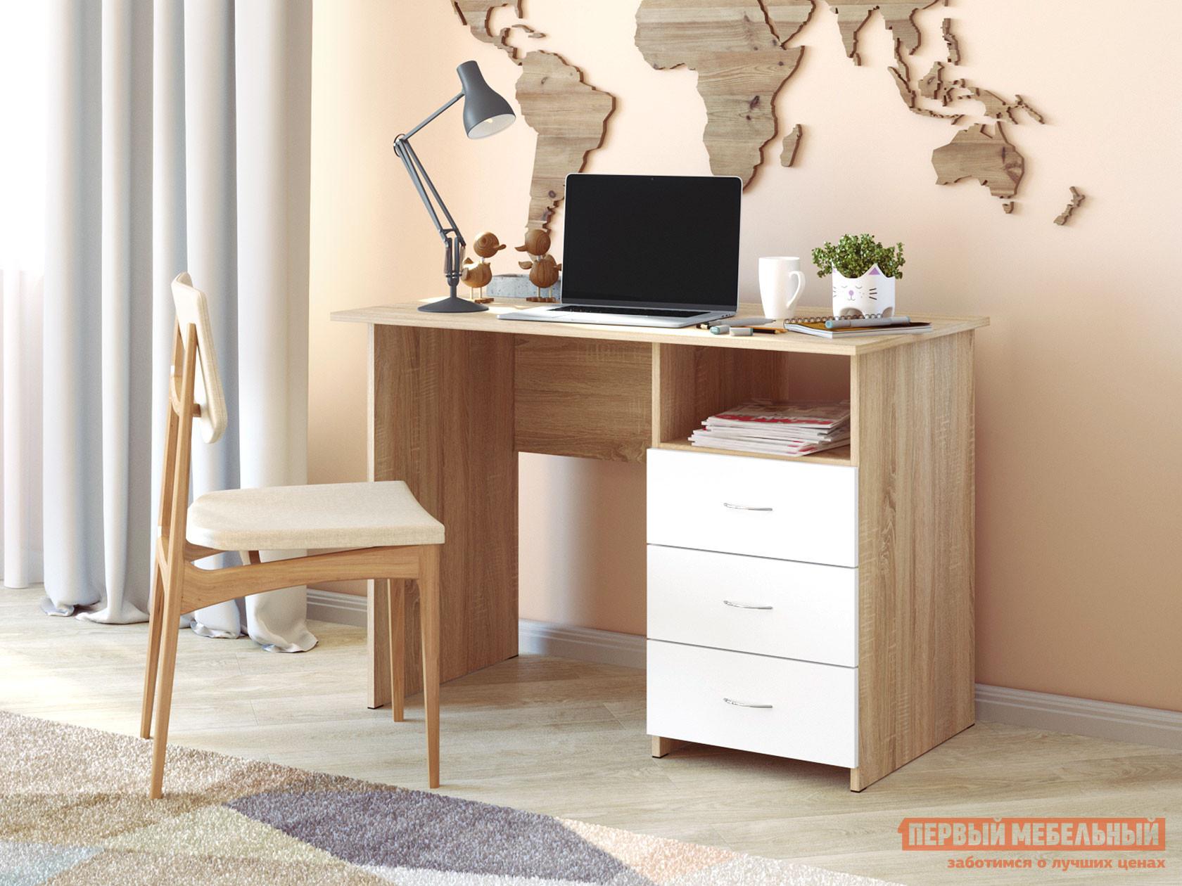 Компьютерный стол  2201.М1 Дуб Сонома / Белый