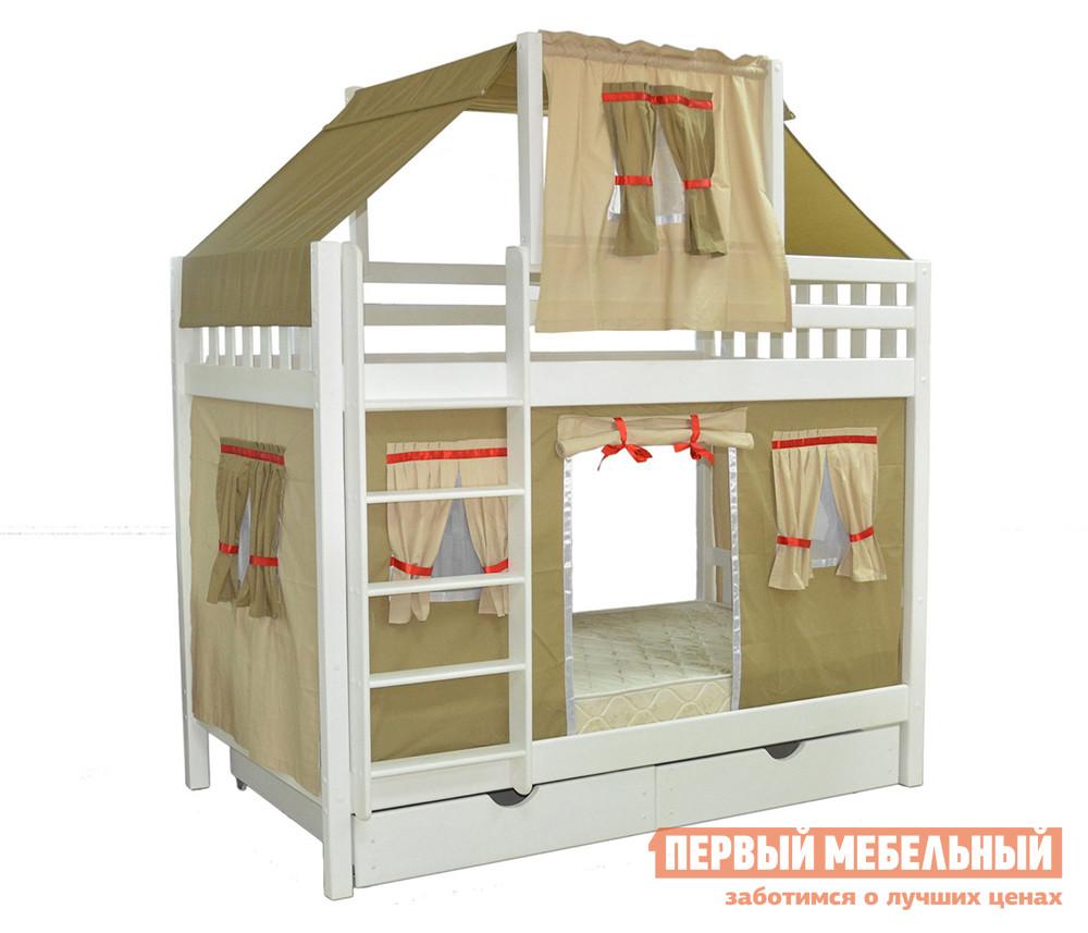 Двухъярусная кровать-домик для детей Мебель-Холдинг Скворушка-5 кровать двухъярусная олимп мебель адель 3