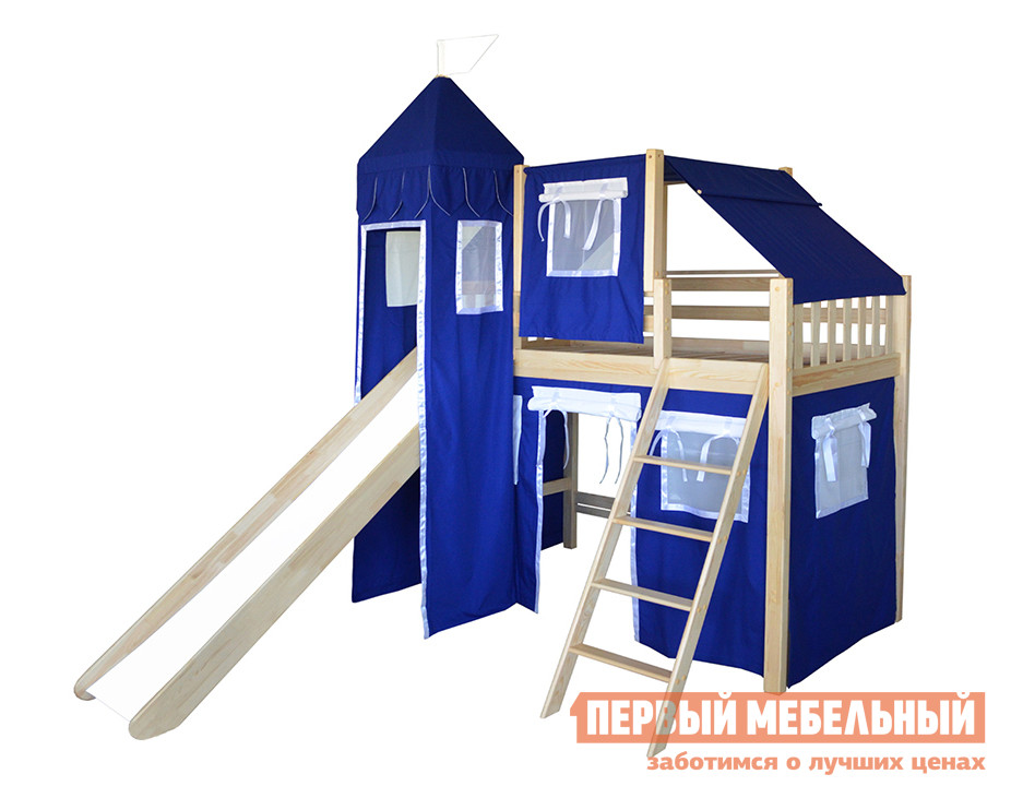 Кровать-чердак-домик из массива дерева Мебель-Холдинг Рыцарь-5