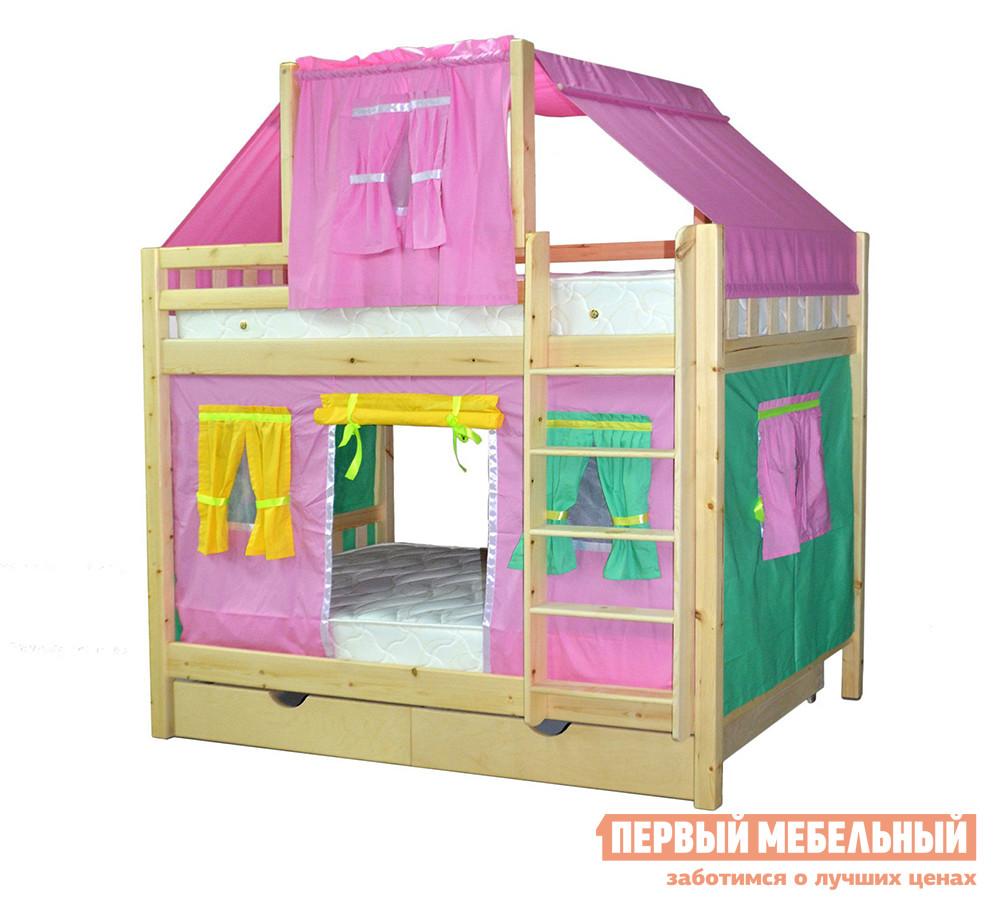 Двухъярусная кровать-домик для детей Мебель-Холдинг Скворушка-4