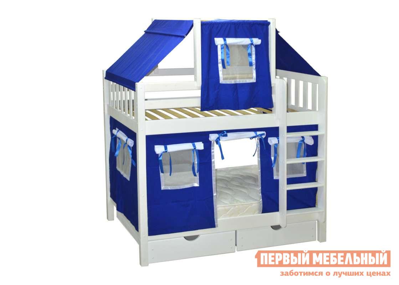 Двухъярусная кровать-домик для детей Мебель-Холдинг Скворушка-1