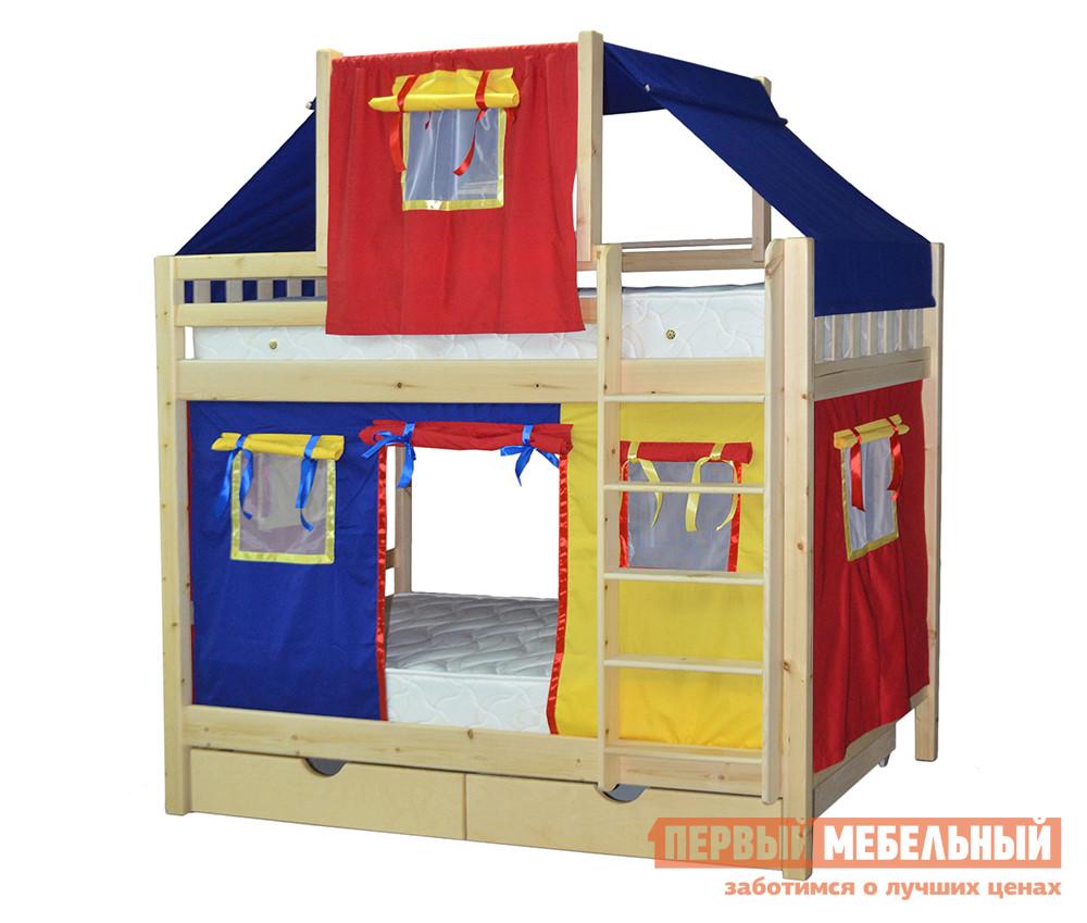 Двухъярусная кровать-домик для детей Мебель-Холдинг Скворушка-2