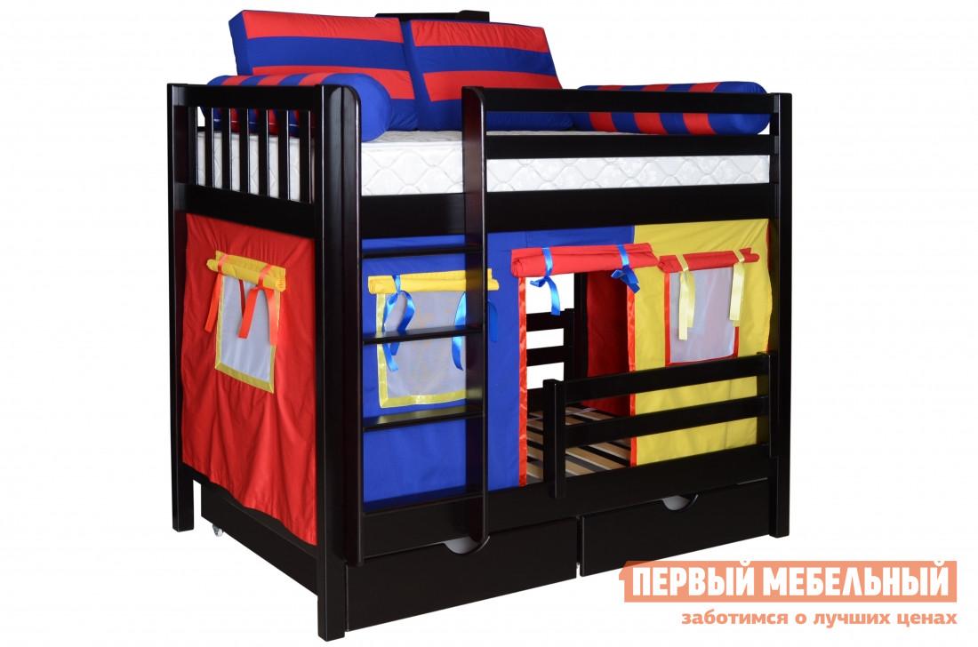 Двухъярусная кровать в виде домика Мебель-Холдинг Галчонок-1 кровать двухъярусная олимп мебель адель 3